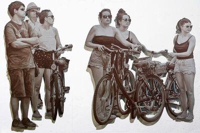 John Miller (b. 1954), 'Cyclists', 2013