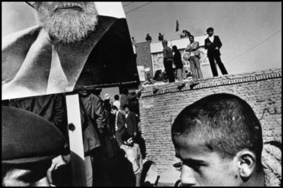Gilles Peress, 'Demonstration in favour of the leading opposition figure Ayatollah Kazem Shariatmadari. Tabriz, Iran. ', 1980