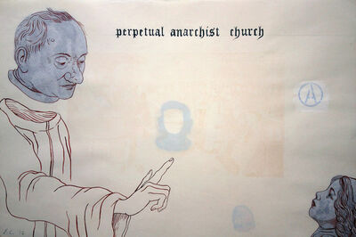Enrique Chagoya, 'Ghostly Meditations (perpetual anarchist church)', 2012