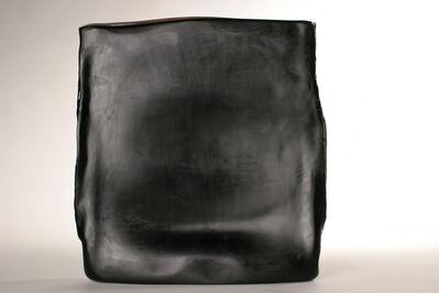 Laura de Santillana, 'Black cut - Black diptych', 2019