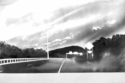 Alfred Leslie, 'Route 116, near Sunderland, Massachusetts (from 100 Views Along the Road)', 1983