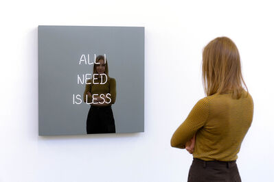 Jeppe Hein, 'All I Need Is Less (Handwritten)', 2019