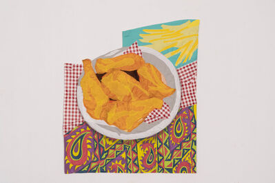 Hangama Amiri, 'Still life with Fried Chicken and Fries', 2021