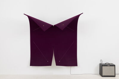 Naama Tsabar, 'Work on Felt (Variation 22) Purple', 2019