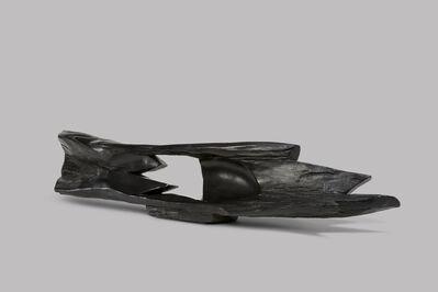Alexandre Noll, 'Ebony abstract horizontal sculpture'