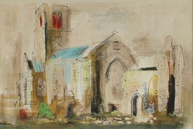 John Piper, 'Waxham, Norfolk (St. John's Church)', ca. 1955