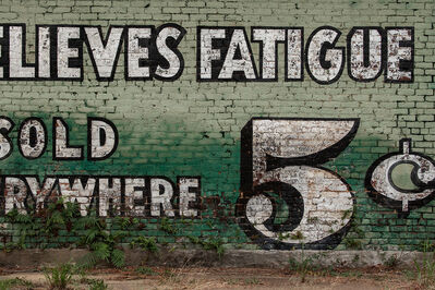 Jerry Siegel, 'Relieves Fatigue, 5¢ Selma, AL 2005', 2019