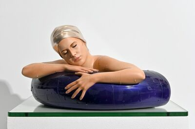 Carole A. Feuerman, 'Miniature Serena with Purple Tube 2/10 - hyperrealism, female, resin sculpture', 2020