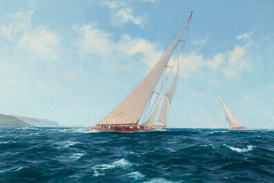 John Steven Dews, 'Velsheda beating to Windward off the Needles', 21st Century