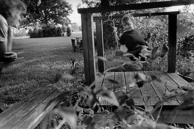 Larry Towell, 'Lambton County, Ontario, Canada [Isaac on Swing]', 1998