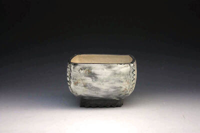 Kang Hyo Lee, 'Puncheong Squared Bowl with Ash Glaze 7', ca. 2012