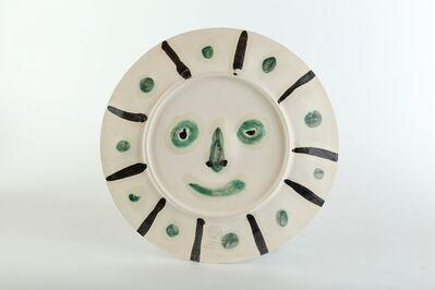 Pablo Picasso, 'Pablo Picasso Ceramic Dual Side Design AR 356 366 Visage aux palmes Face w/Palms', 1956