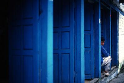 Eduardo Rubio, 'Nepal Annapurna blue door'