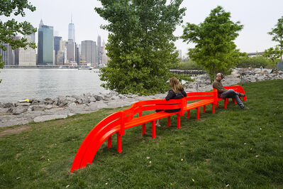 Jeppe Hein, 'Modified Social Bench NY #12', 2015
