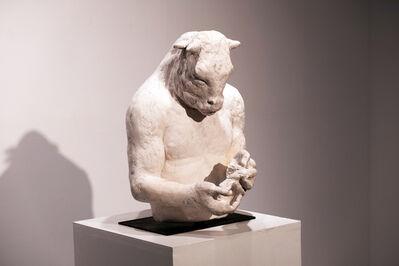 Beth Carter, 'Large Minotaur Bust (with Bird)', 2018