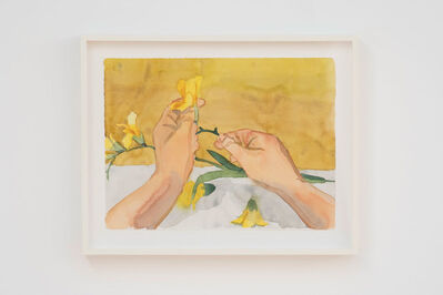 Roger White, 'Hands assembling flowers', 2016