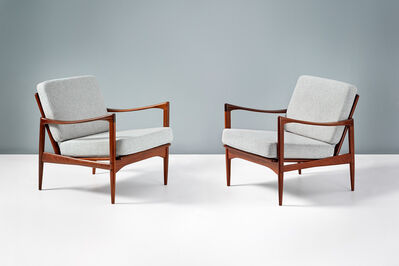 Ib Kofod-Larsen, 'Pair of Candidate Lounge Chairs', 1958