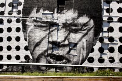 JR, 'Inside Out, Native American, Highline close-up, New York, USA, 2012', 2012