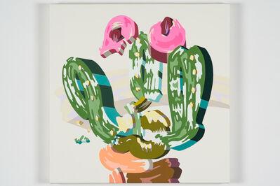 Soichi Yamaguchi, 'Overlap of paint (Cactus flower)', 2020