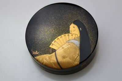 Imaizumi Seishi, 'Gold Lacquer Incense Box with a Depiction of Murasaki Shikibu', 1920-1930