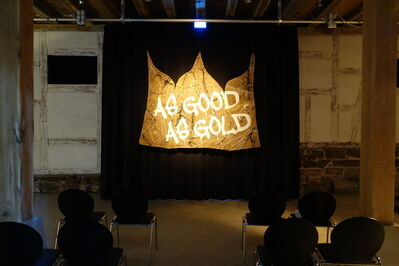 Apparatus 22, 'AS GOOD AS GOLD (triptych)', 2014