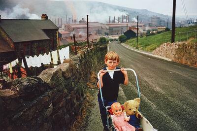 Bruce Davidson, 'Wales (boy pushing carriage)', 1965