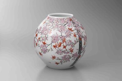 Obata Yuji, 'SAKURA with RED LEAVES Vase', 2018