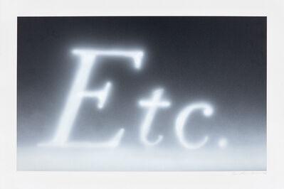Ed Ruscha, 'Etc.', 1990