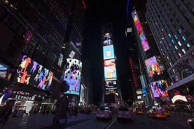 Daniel Canogar, 'Storming Times Square', 2014