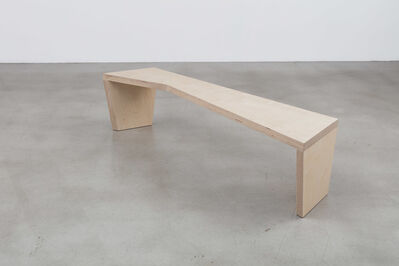 Sarah Crowner, 'Bench (Open Angle)', 2016