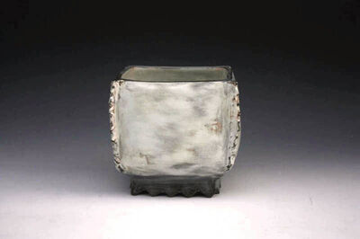 Kang Hyo Lee, 'Puncheong Squared Bowl with Ash Glaze 8', ca. 2012