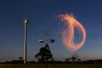 Cameron Robbins, 'Anemograph Lunar Max Hepburn Wind Farm', 2018