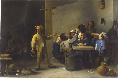David Teniers the Younger, 'Peasants Celebrating Twelfth Night', 1635