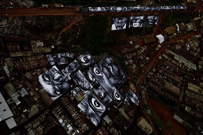 JR, '28 Millimètres : Women Are Heroes, Action in Kibera Slum, general view, Kenya', 2009