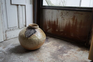 Shiro Tsujimura, 'Large round jar natural ash glaze'