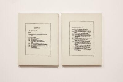 Carlos Arias, 'Curriculum vitae (díptico)', 1997