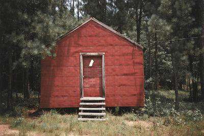 William Christenberry, 'Red Building in Forest, Hale County, Alabama', 1974