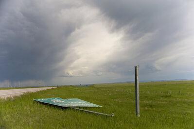 Dallas Parkins, Jr, 'Sign Down (Cheyenne) #4', 2014