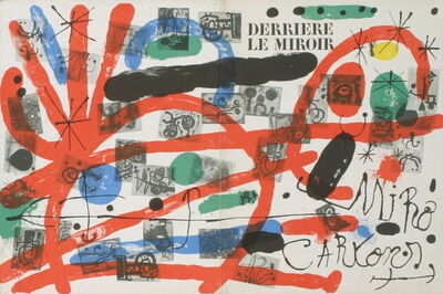 Joan Miró, 'Derriere Le Miroir, no. 151-152 Cover', 1965