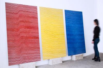 Mathieu Merlet Briand, 'Triptych, Google Red, Google Yellow, Google Blue, Hommage a Alexandre Rodtchenko', 2016
