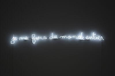 Claude Lévêque, 'Je me fous du monde entier', 2019