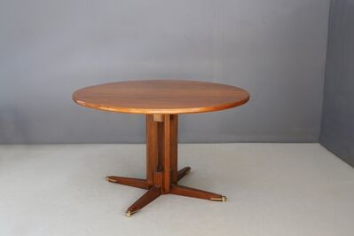 Gianfranco Frattini, 'Italian MidCentury Table in Wood and Brass attributed by Gianfranco Frattini', 1950