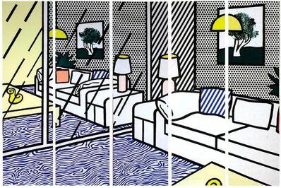 Roy Lichtenstein, 'Wallpaper with Blue Floor Interior ', 1992