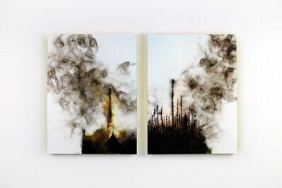 Steven Spazuk, 'Diptyque (Notre-Dame-de-Paris vs Forest Fire)', 2020