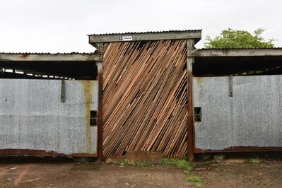 Andy Goldsworthy, 'Wood Shed. Stacked floorboards, left over from renovations carried out many years ago. Bogg Farm, 29 April 2020', 2020