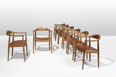 """Hans Jørgensen Wegner, 'A set of eight oak Armchairs - """"The chair""""', 1949"""
