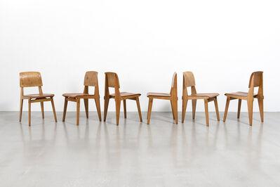 Jean Prouvé, 'Set of 6 «Tout Bois» chairs', ca. 1944