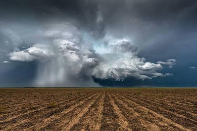 Eric Meola, 'Supercell Hovering Over Plowed Field. Kanorado, Kansas', 2015