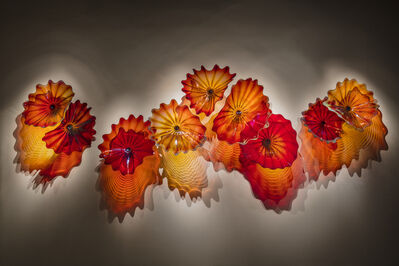 Dale Chihuly, 'Copper Ruby Persian Wall', 2018