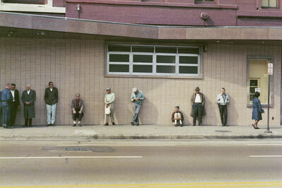 Mario Carnicelli, 'Job centre queue, Chicago', 1966